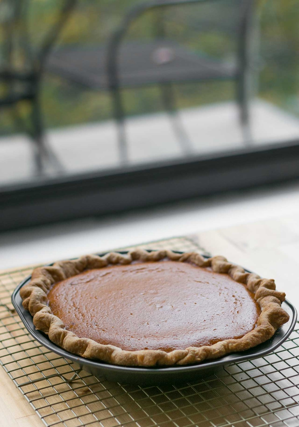 Pumpkin pie recipe with toasted marshmallow topping-5