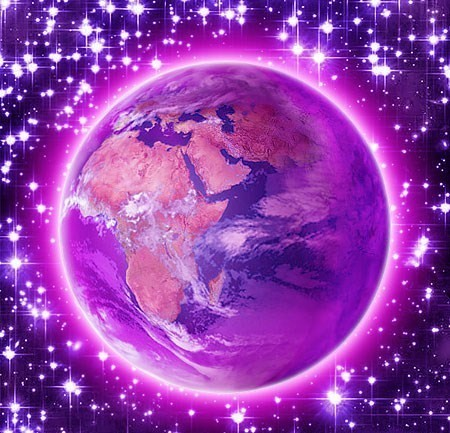 earth violet atmosphere