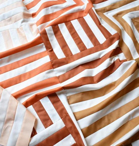 Interwoven quilt