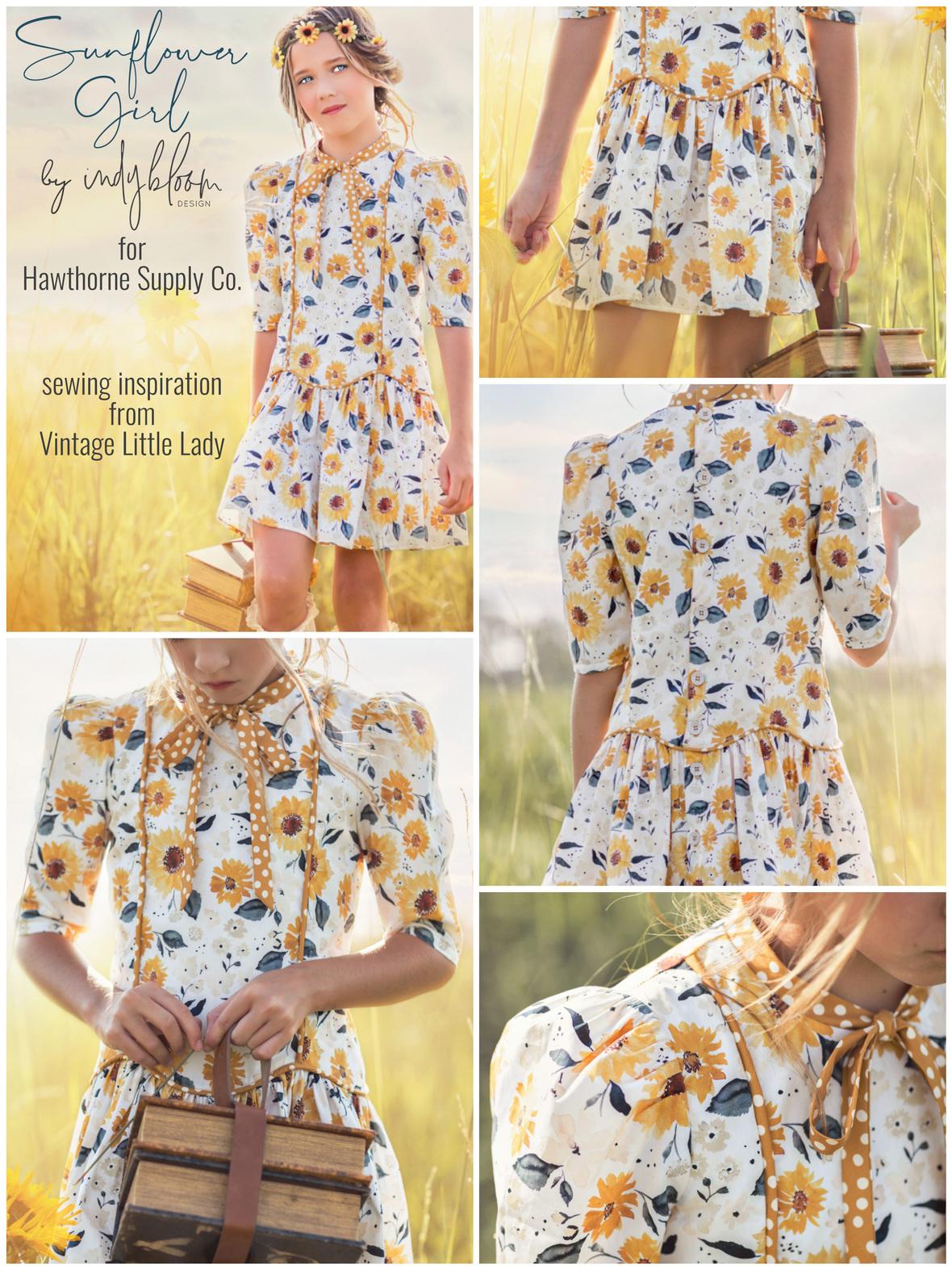 Vintage Little Lady Indybloom Sunflower Girl Dress Hawthorne Supply Co.