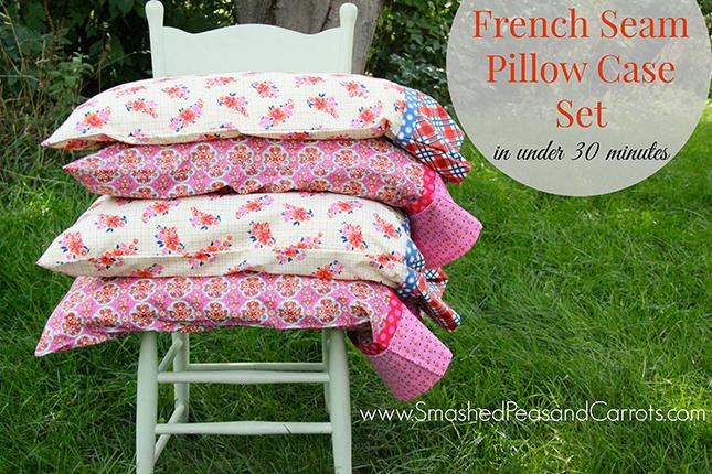 making french seams pillowcase