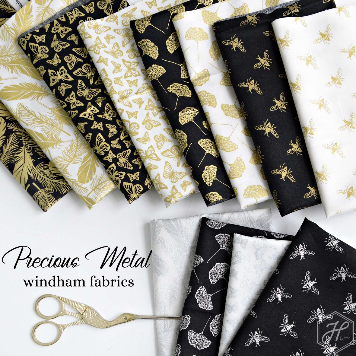 Precious Metal Fabric Windham at Hawthorne Supply Co
