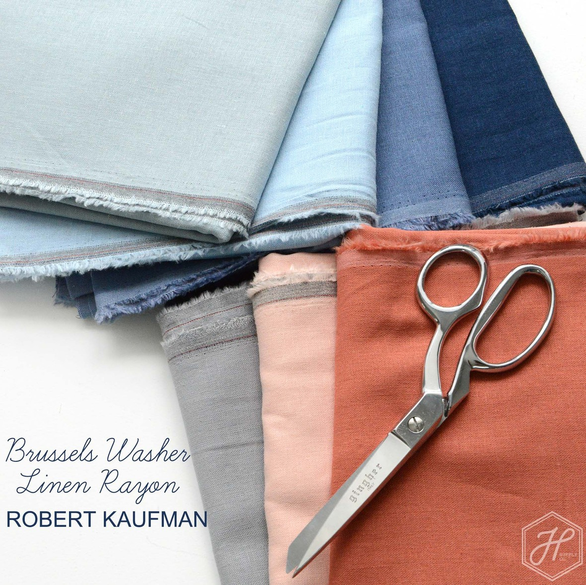 Brussels Washer Linen Rayon Solids from Robert Kaufman at Hawthorne Supply Co