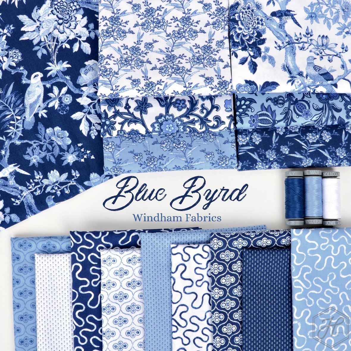 Blue Byrd Fabric Poster Windham at Hawthorne Supply Co