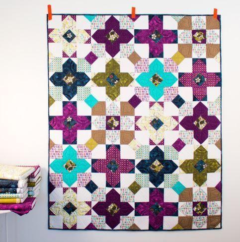 sarah watson pocket full of posies quilt kit sewing pattern