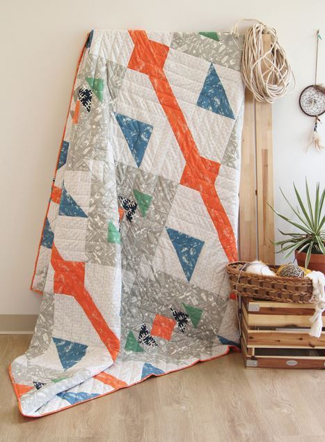 april rhodes dawn galope quilt kit sewing pattern