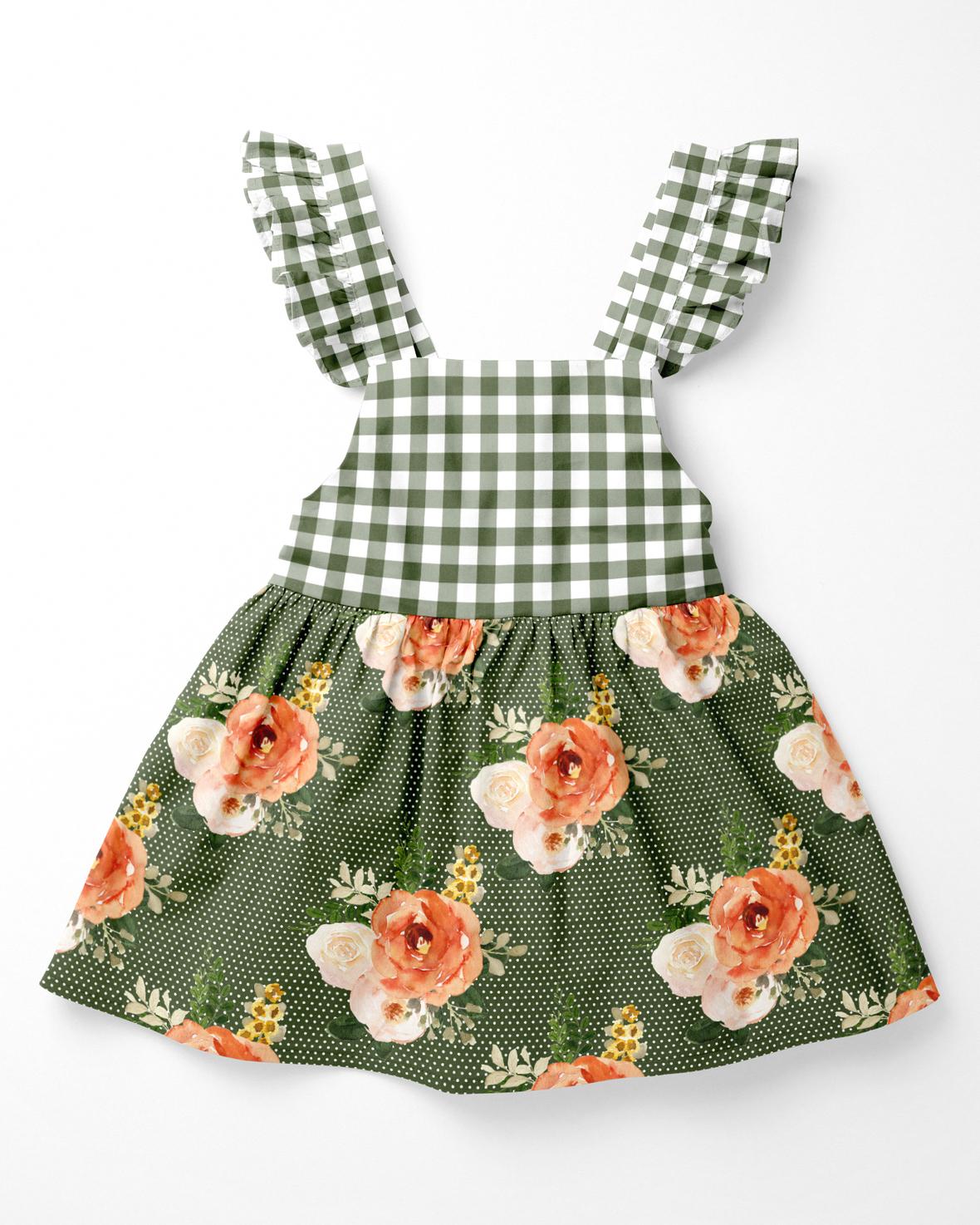baby dress green