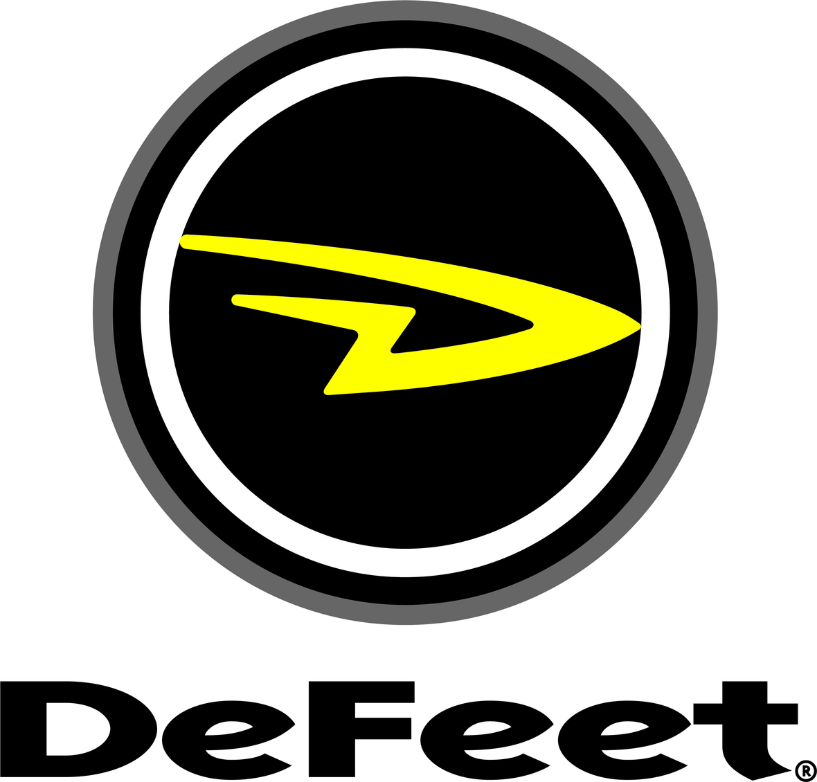 DeFeet Logo Stacked blk