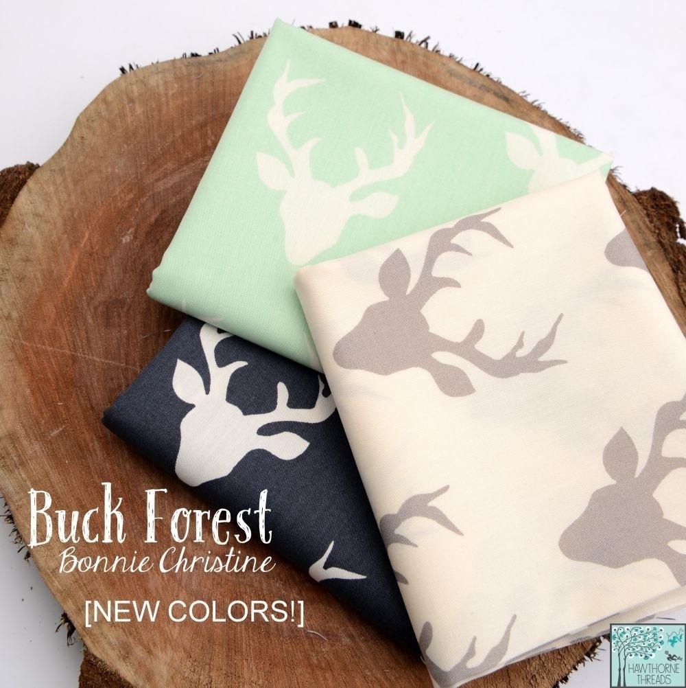 Buck Forest Deer Head Fabric