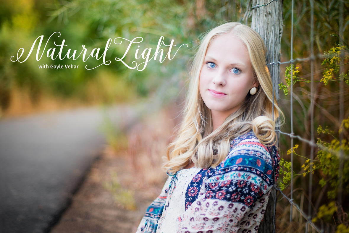 Natural Light with text
