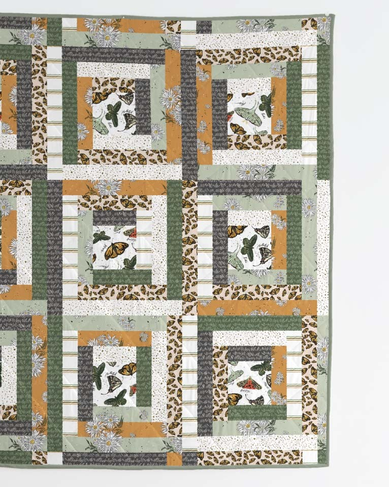 Autumn Revival Crib Quilt Hanging with 20in Pillow and Chair