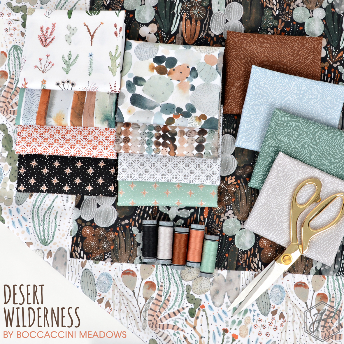 Desert Wilderness fabric Boccaccini Meadows Figo at Hawthorne Supply Co