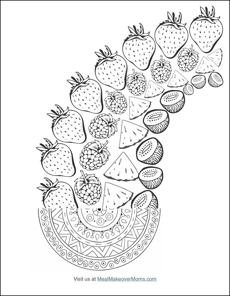 FREE Coloring Cookbook 39 The Smoothie Bowl Coloring