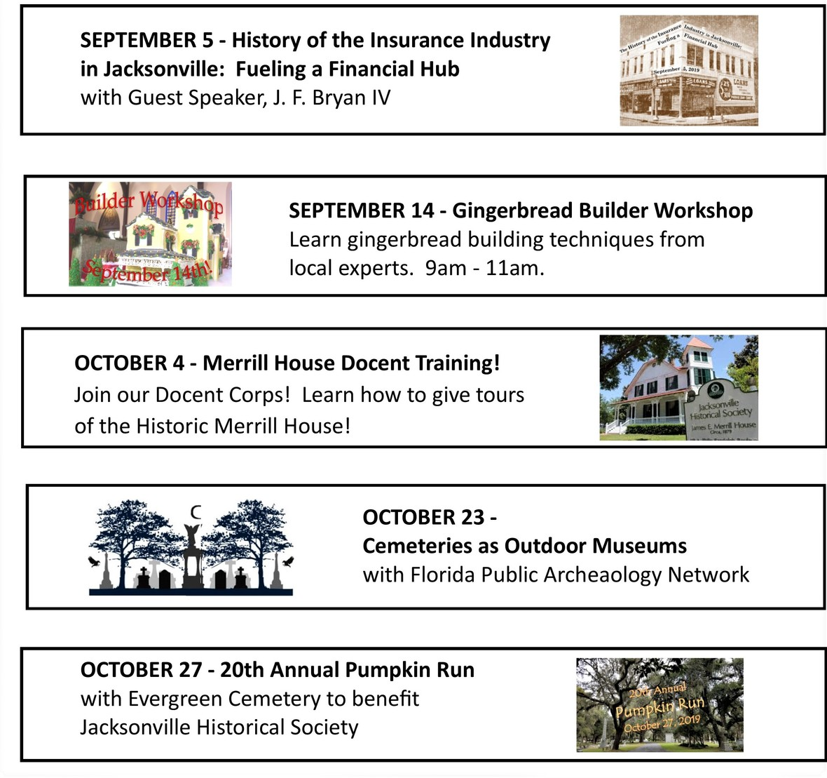 Summer Fall Events