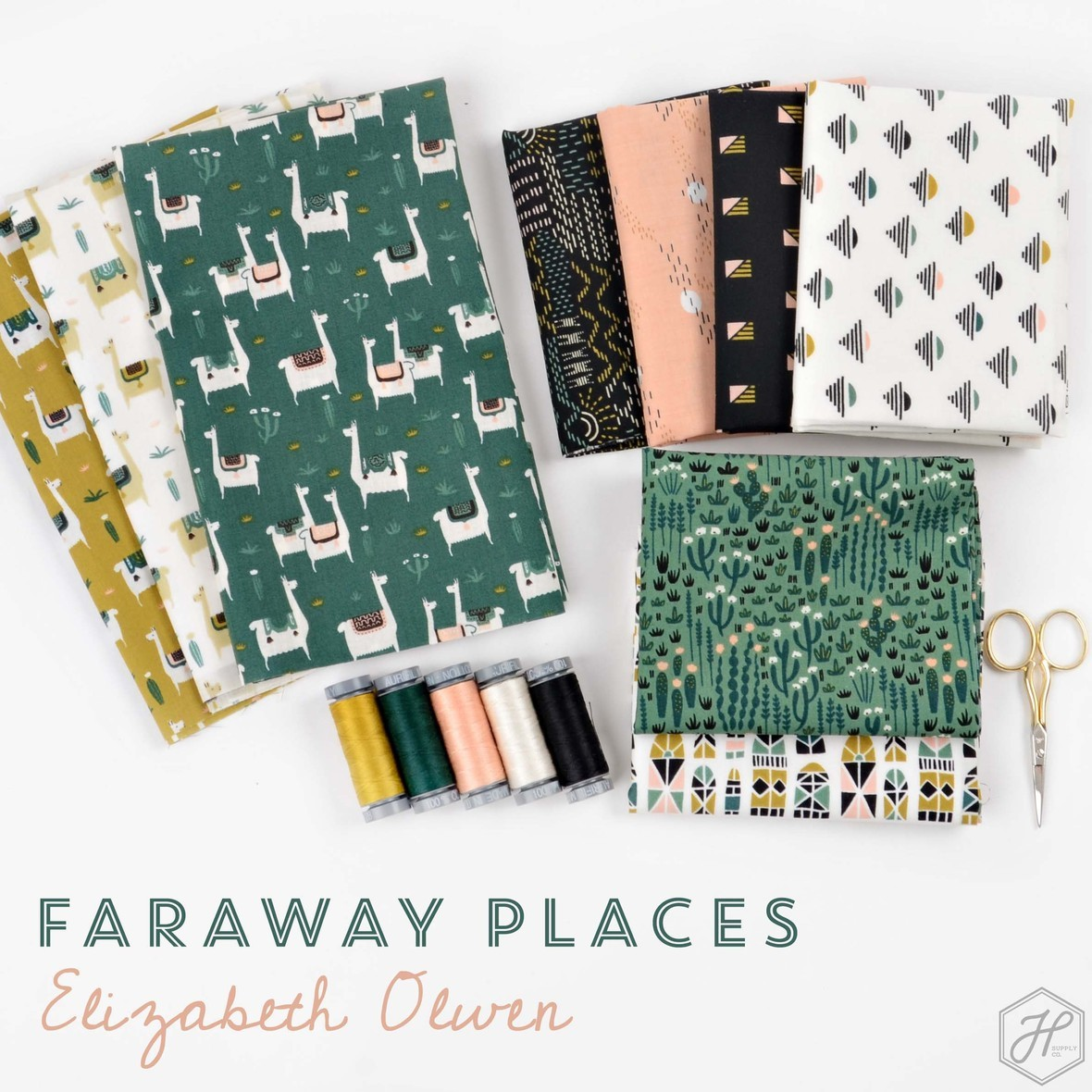 Faraway Places Fabric Poster Elizabeth Olwen at Hawthorne Supply Co