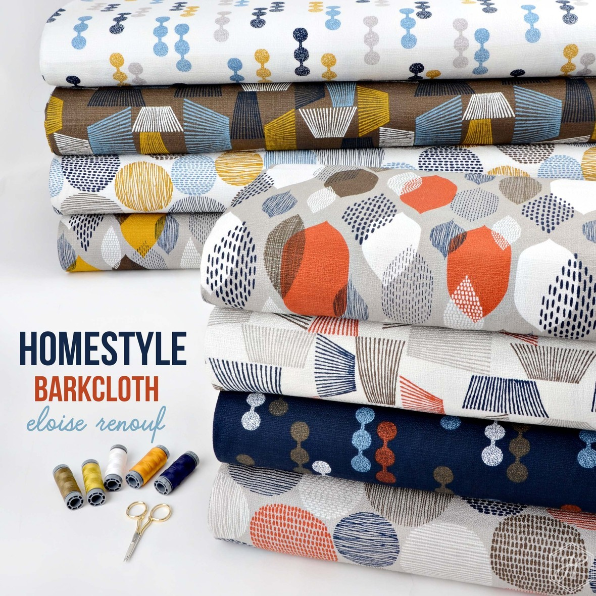 Homestyle Barkcloth Fabric Poster Cloud 9 at Hawthorne Supply Co