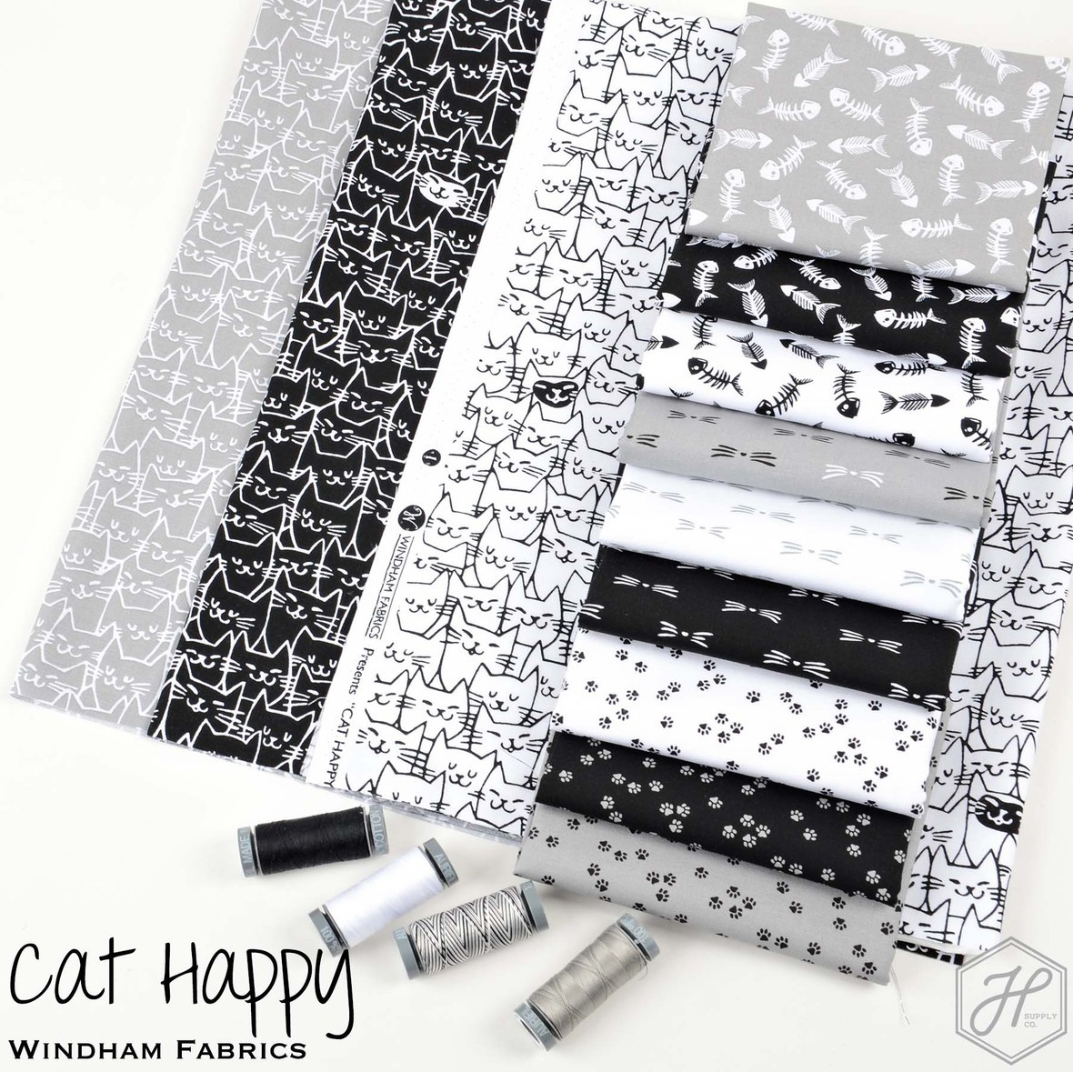 Cat Happy Fabric Poster