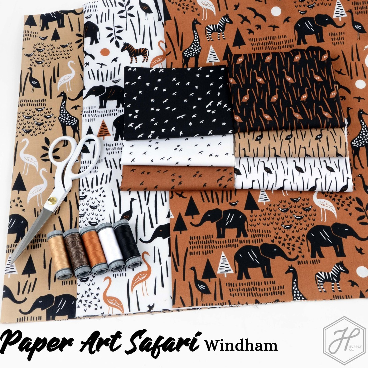 Paper Art Safari Fabric windham at Hawthorne Supply Co