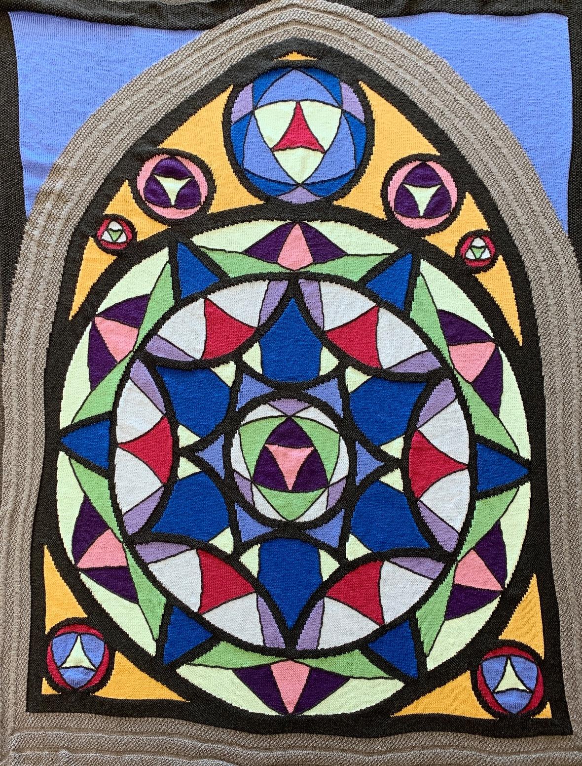 rose window afghan