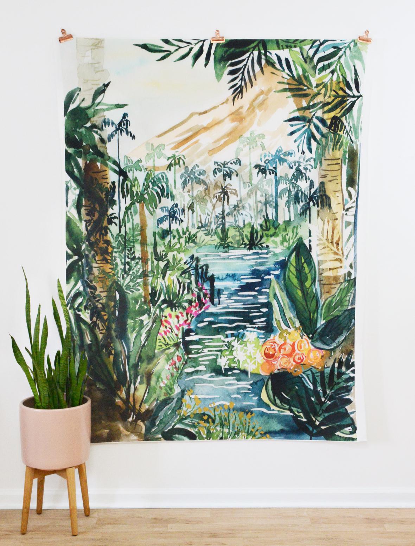 Tropical Paradise Quilt Panel