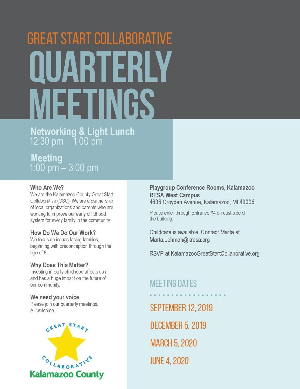 Quarterly Meeting Flyer