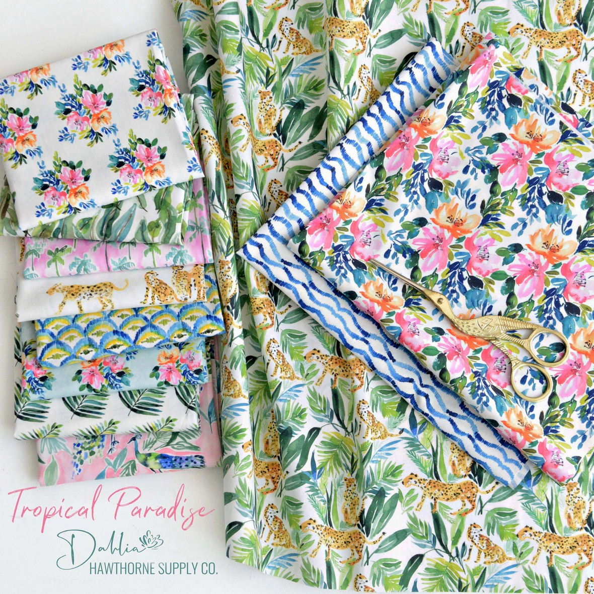 Tropical Paradise Dahlia Studio for Hawthorne Supply Co