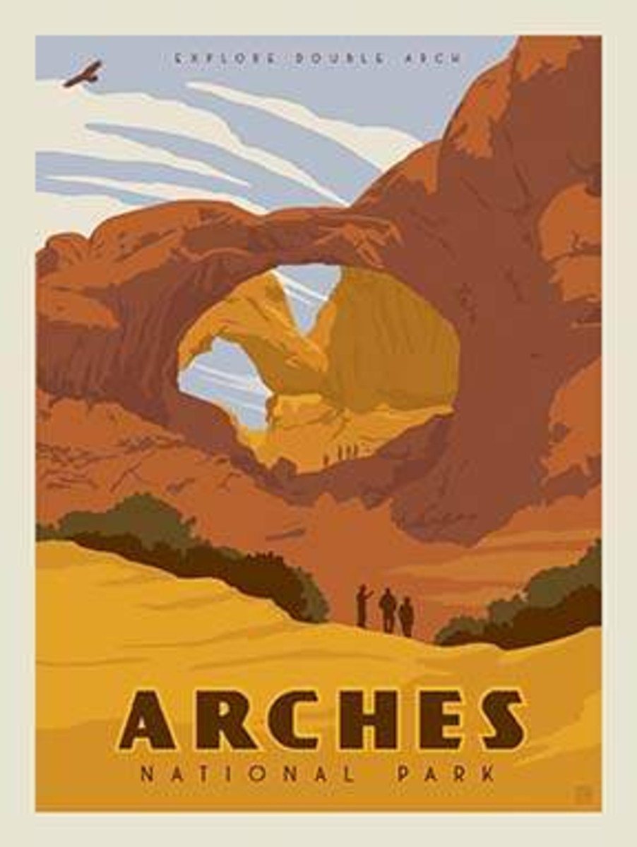 National Parks Poster Panel Arches - P8786-ARCHES