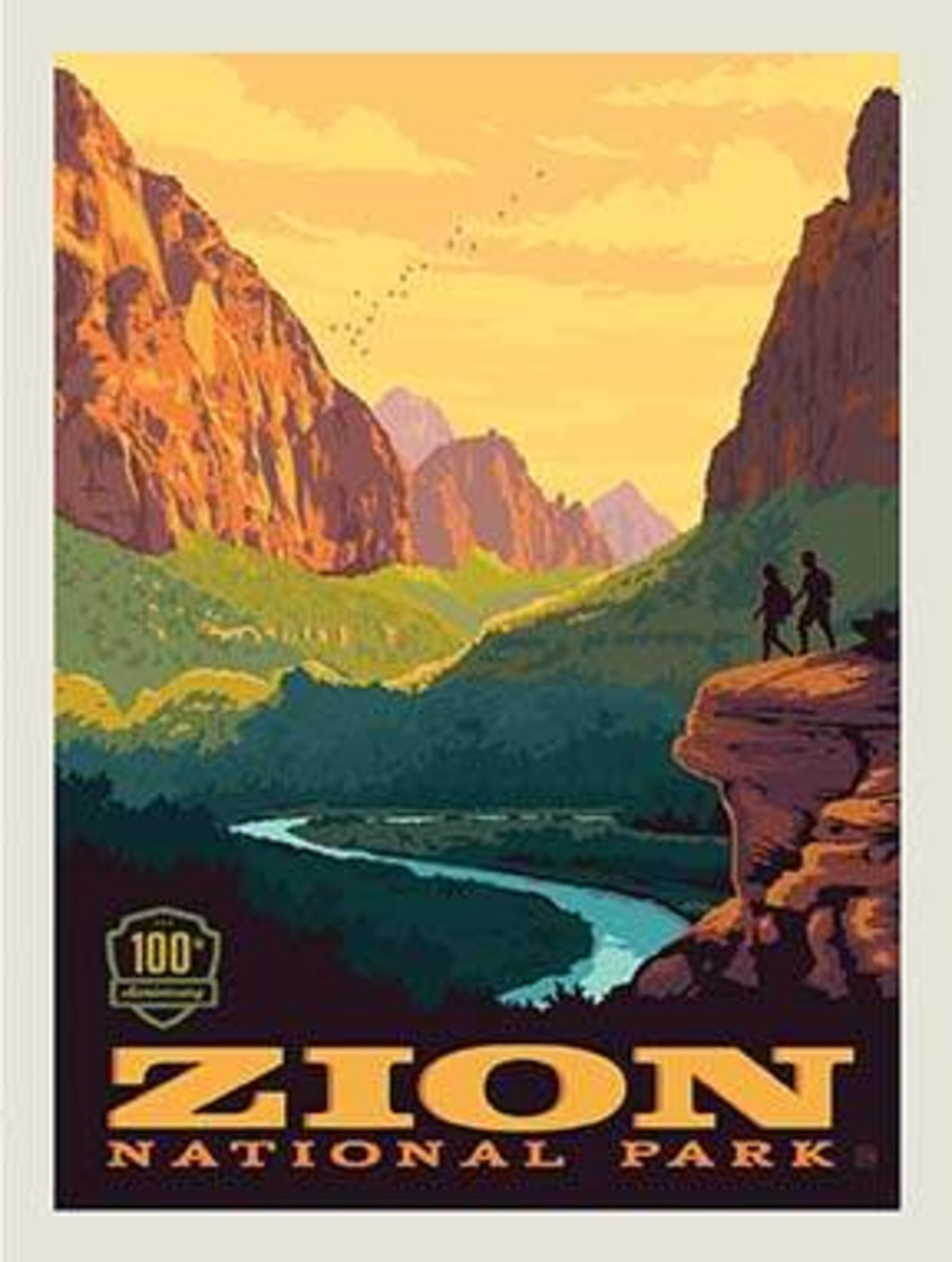 National Parks Poster Panel Zion - P8785-ZION