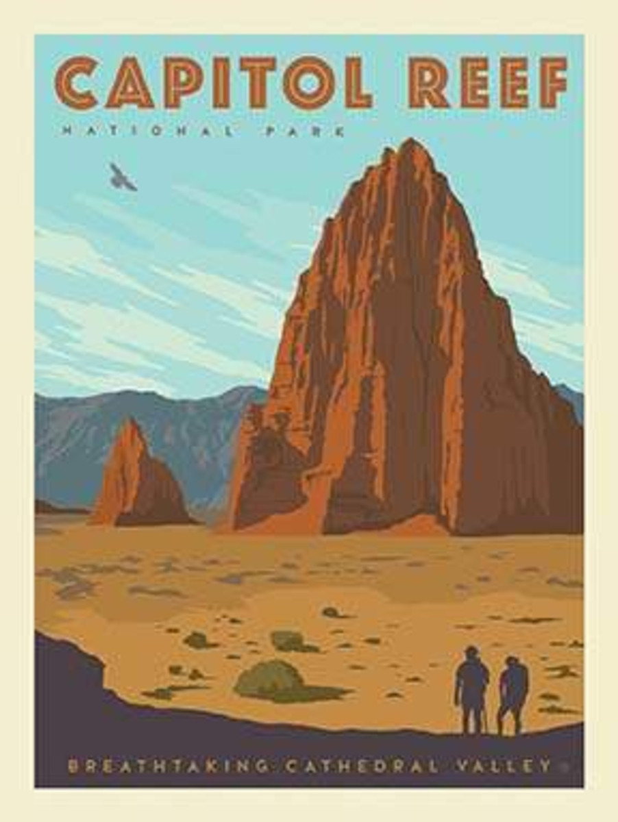 National Parks Poster Panel Capitol Reef - P8788-CAPITOL