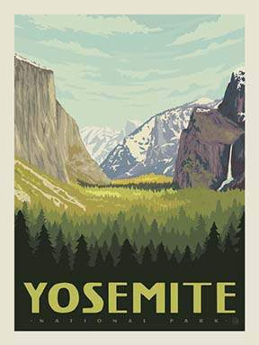 National Parks Poster Panel Yosemite - P8789-YOSEMITE