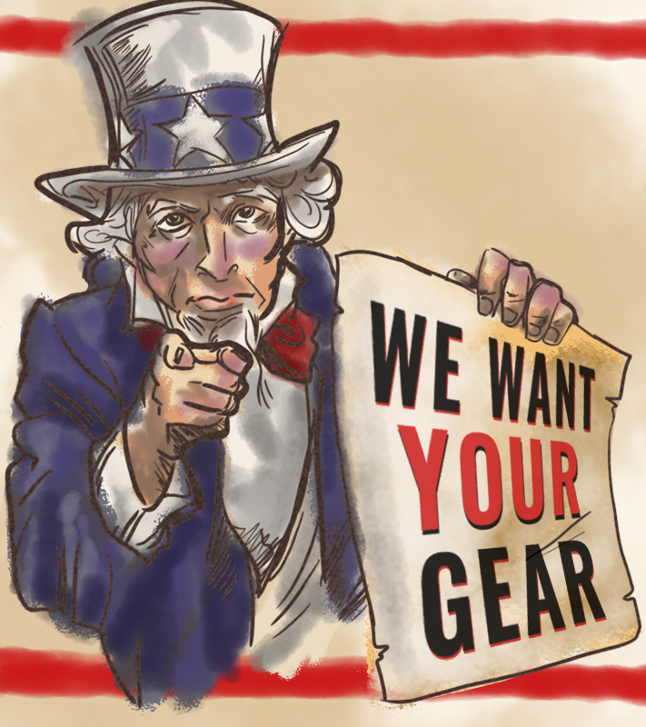 We Want Your Gear