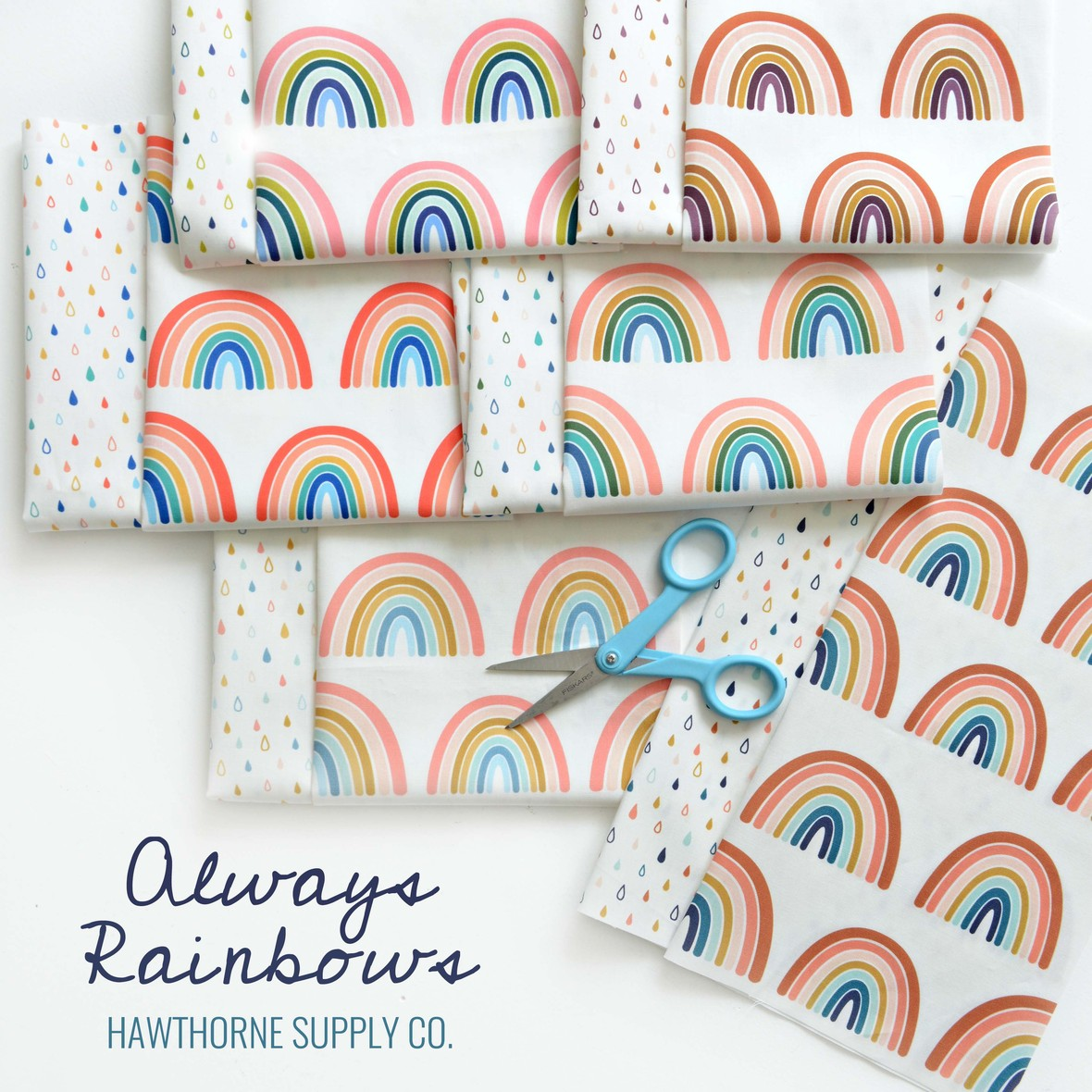 Always Rainbows fabric Hawthorne Supply Co.