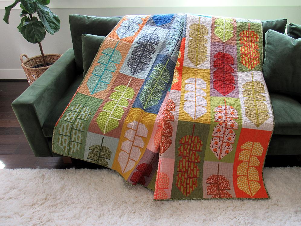 Large Leafy Quilt