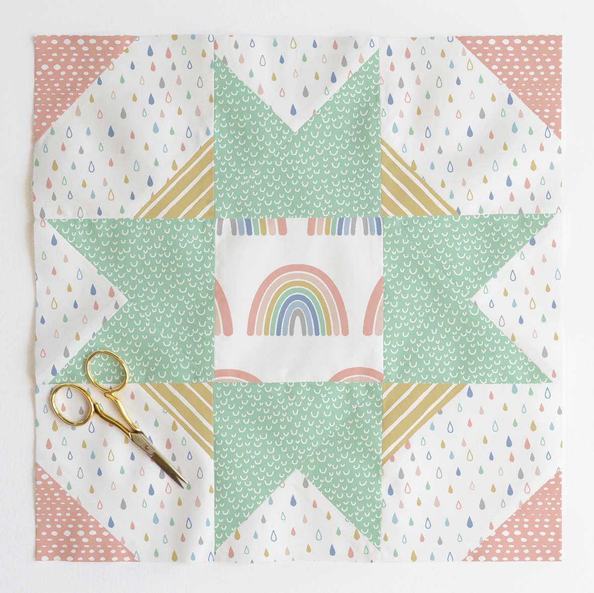 compass star quilt block Outer Banks