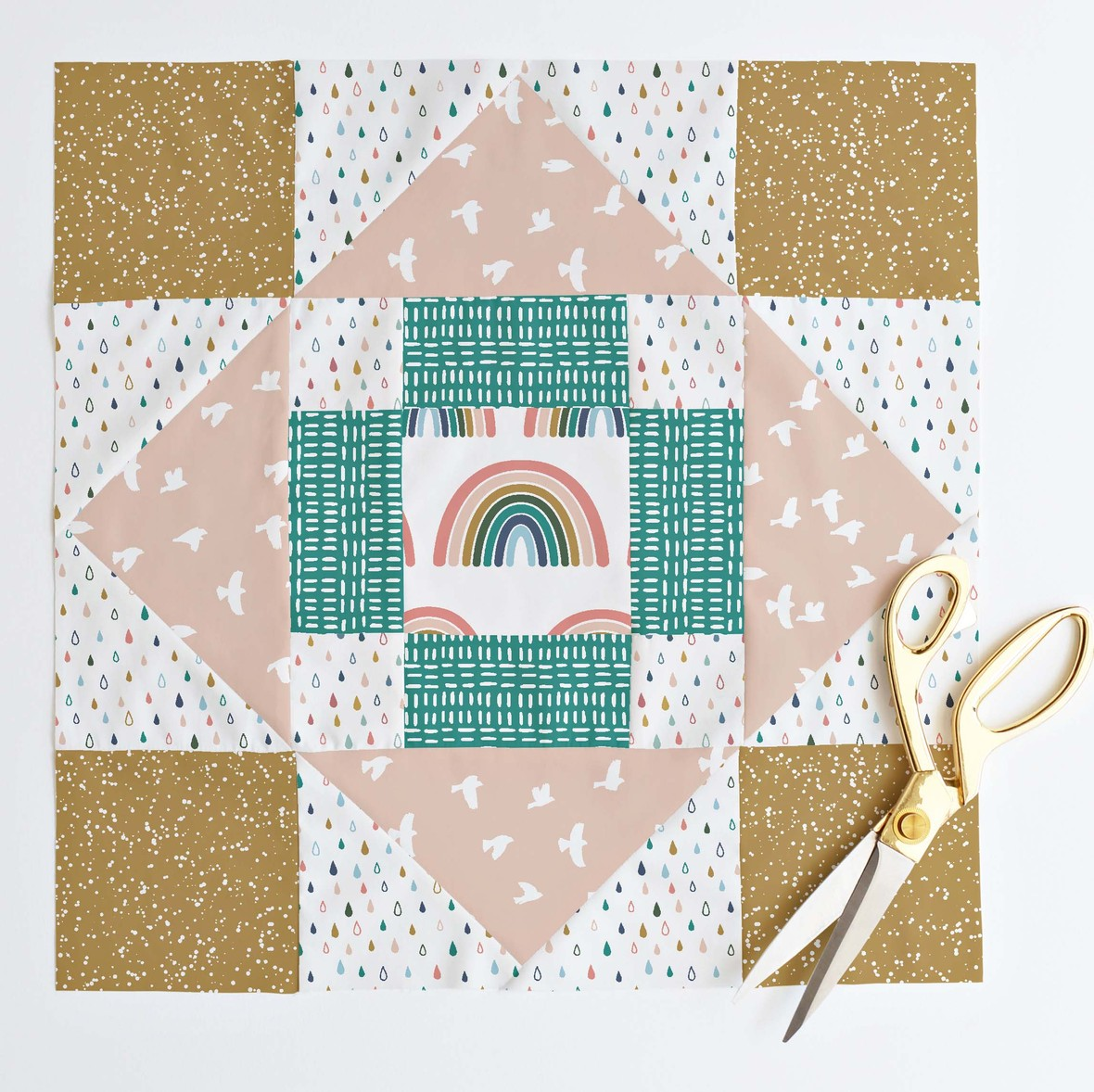 Meadowland Quilt Block in oh deer