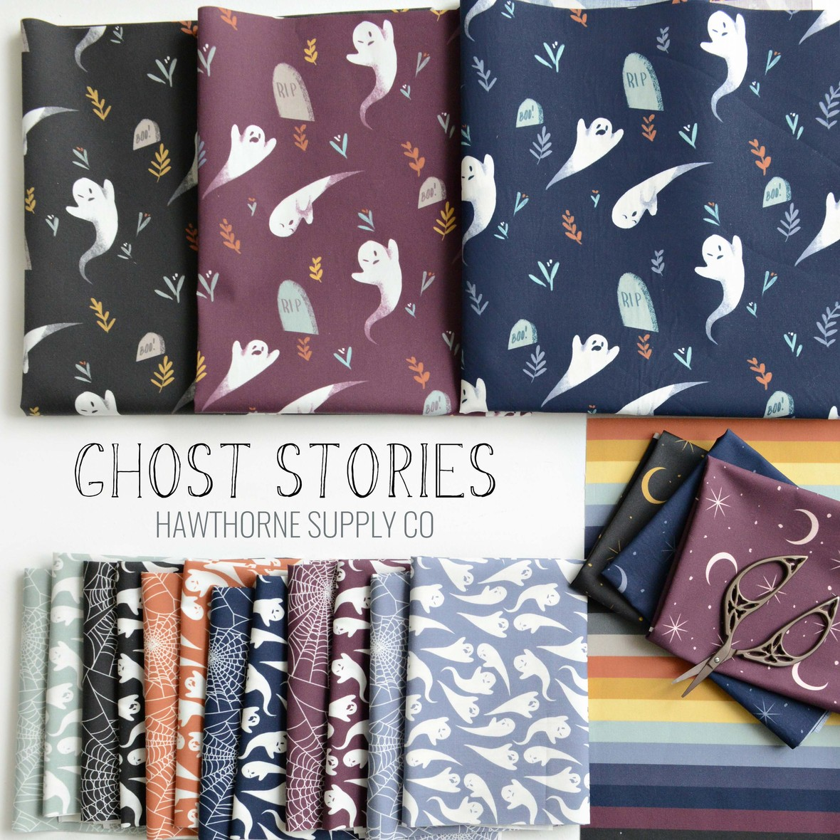 Ghost Stories Halloween Fabric at Hawthorne Supply Co