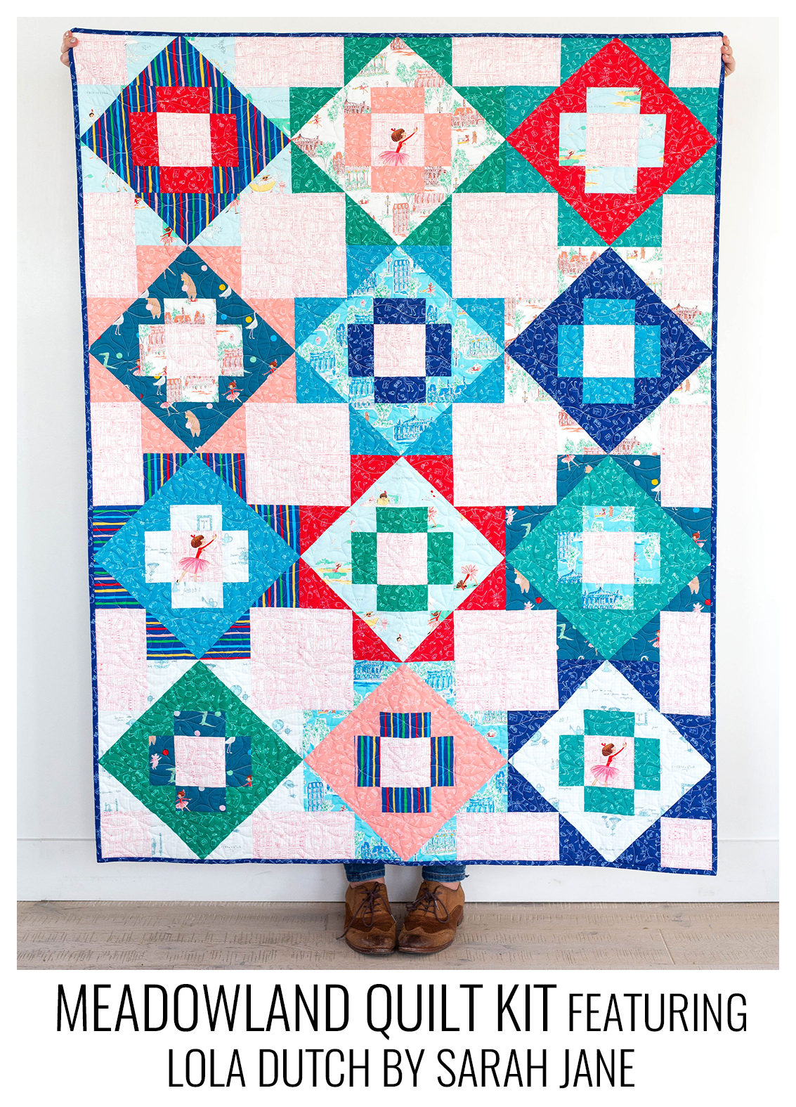 meadowland quilt kit - lola dutch