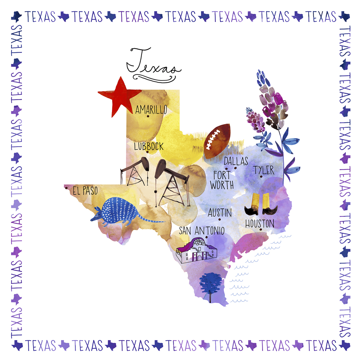 51345P-X Multi TEXAS PANEL cropped 6x6