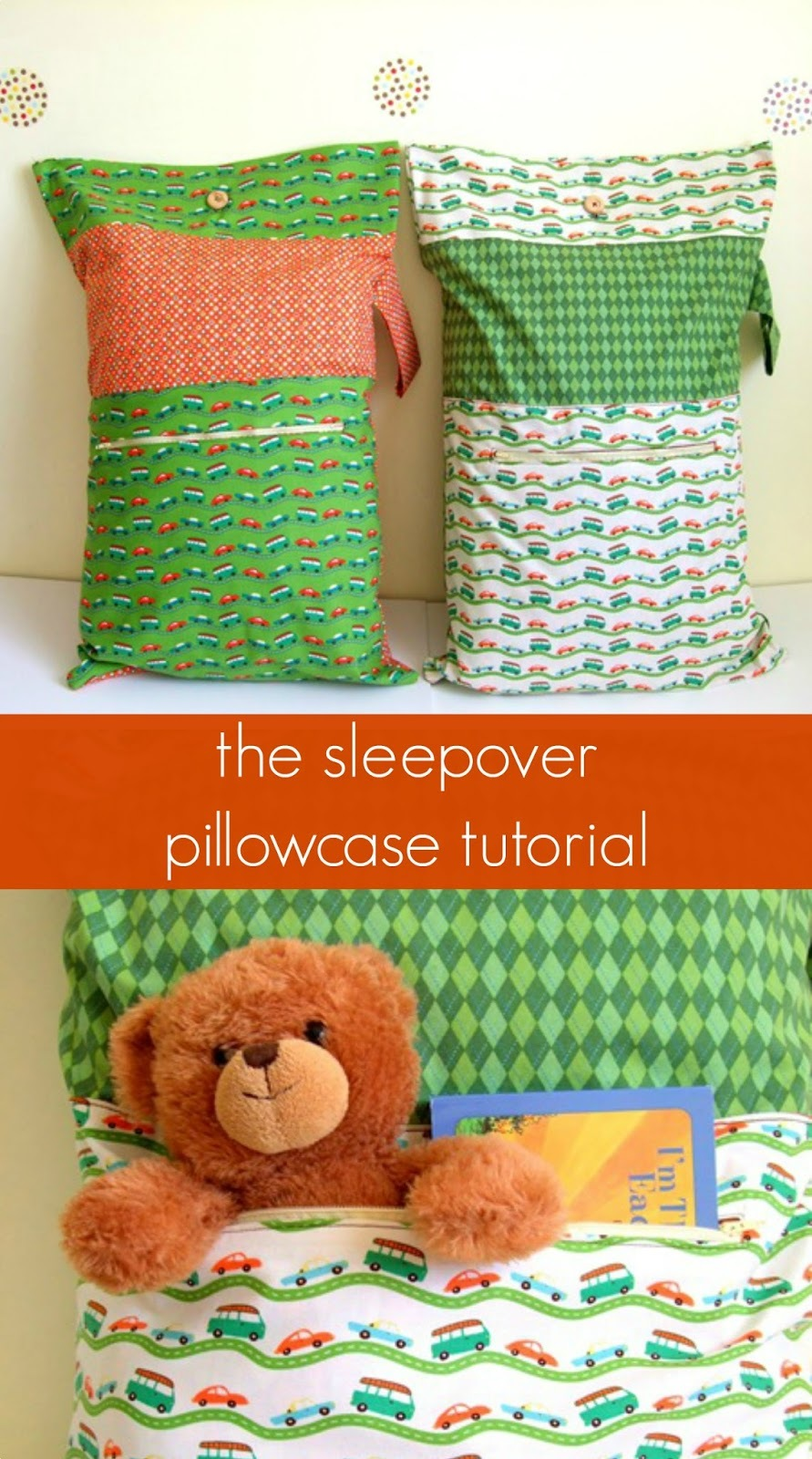 Sleepover Pillowcase Tutorial