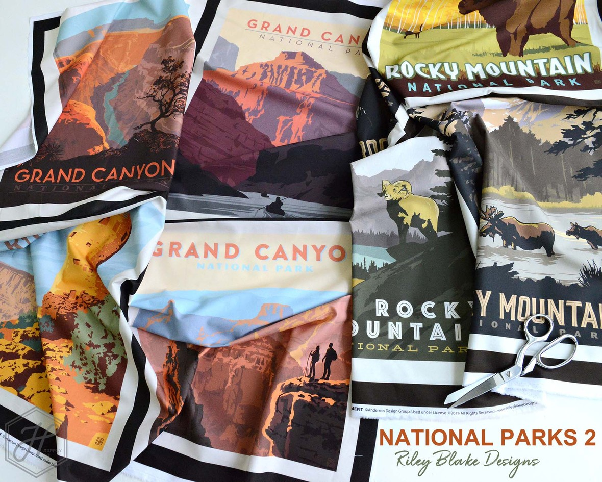 National Parks 2 Fabric Poster Riley Blake Designs at Hawthorne Supply Co