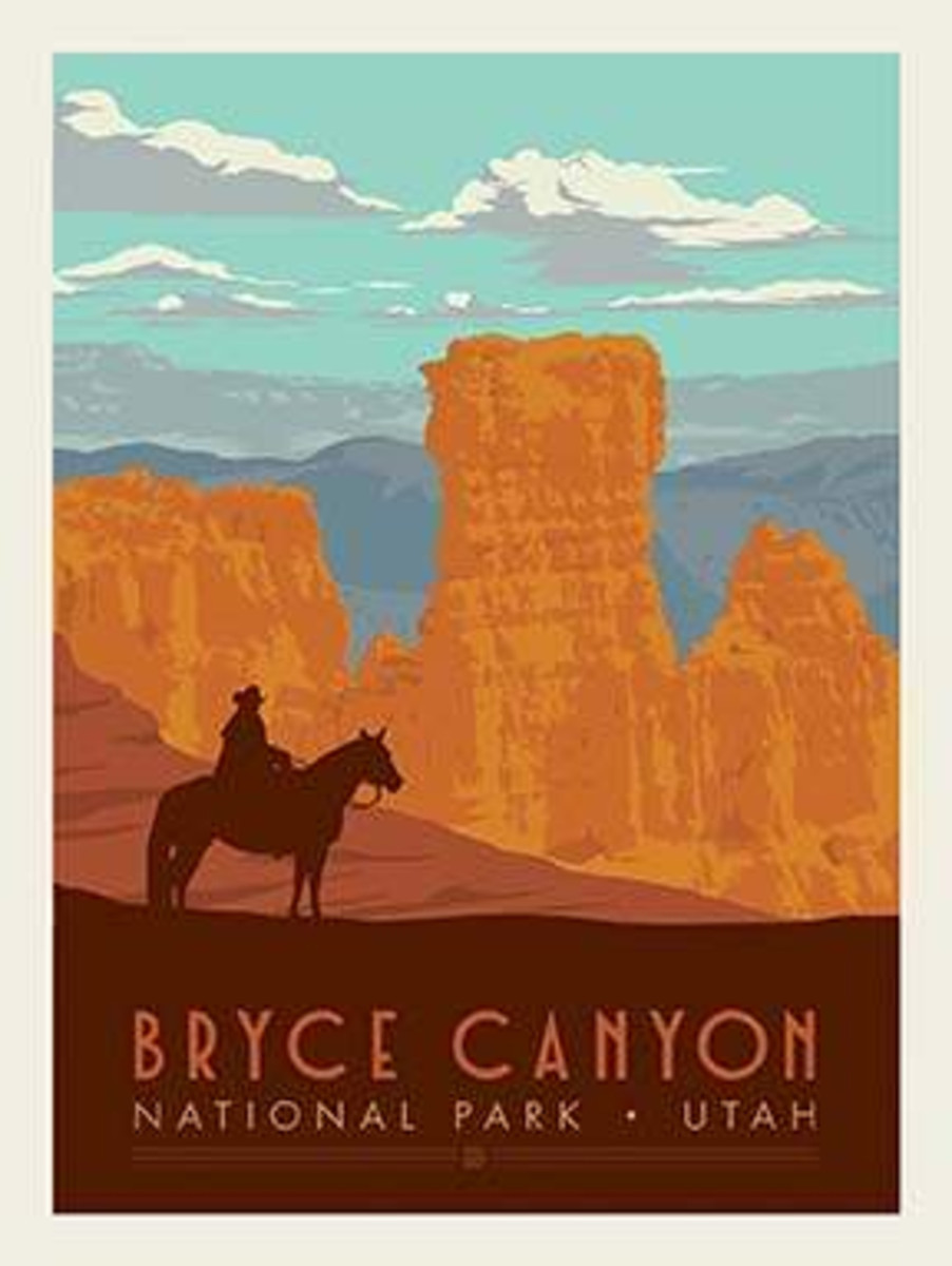 National Parks Poster Panel Bryce Canyon - P8787-BRYCE
