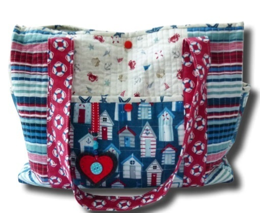 Sew View Bag Andover and Makower UK Fabric