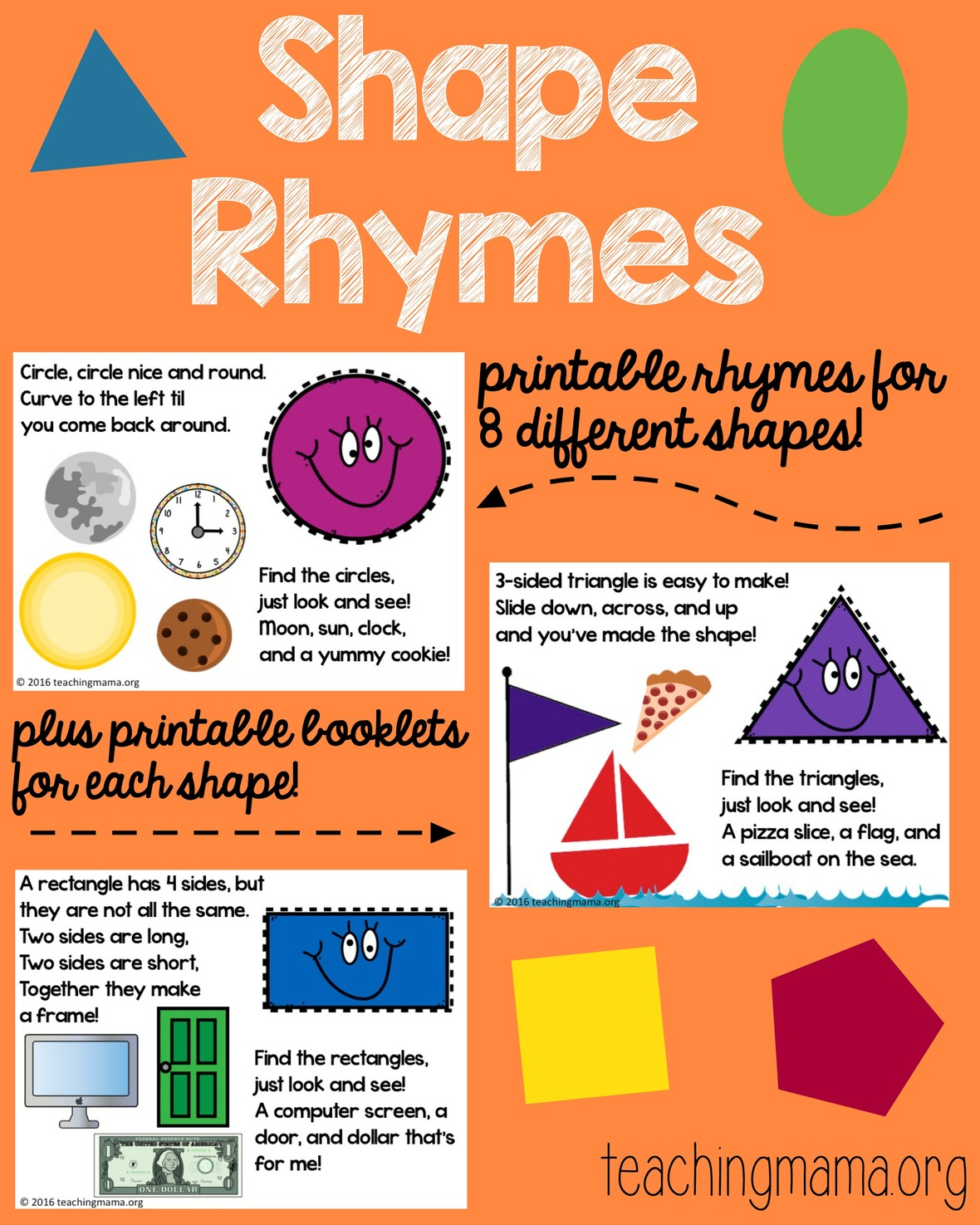 image relating to Look and Find Printable referred to as Form Rhymes Printable - Additionally a Low cost Code!