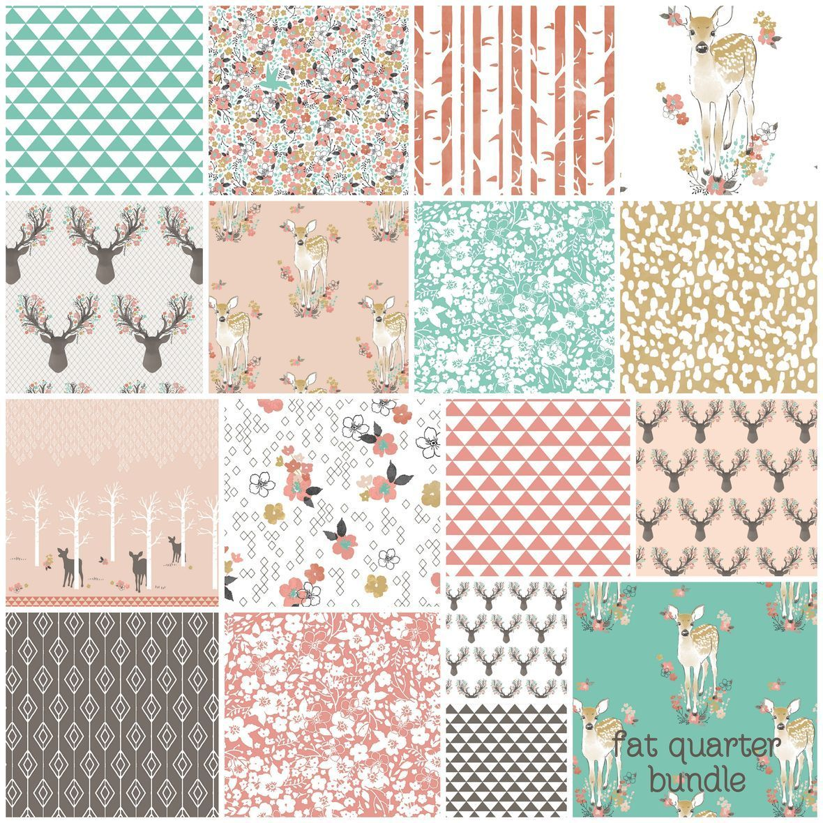 Fawn in Tulip Hawthorne Threads Fabric FQ Bundle