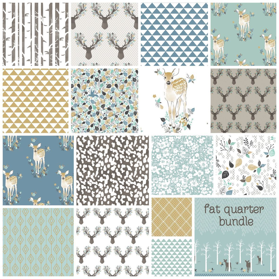 Fawn in Aspen Hawthorne Threads Fabric FQ Bundle