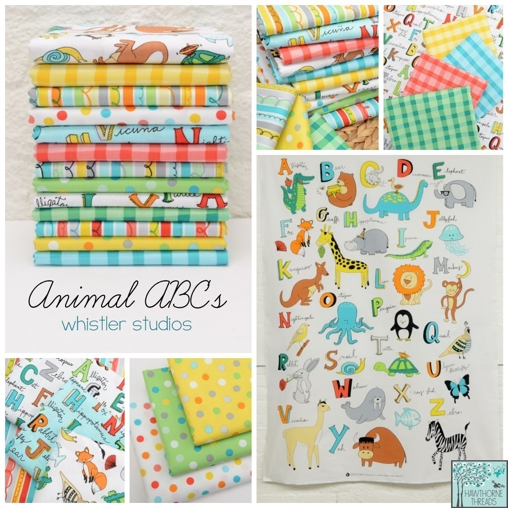 Animal ABC Fabric Poster