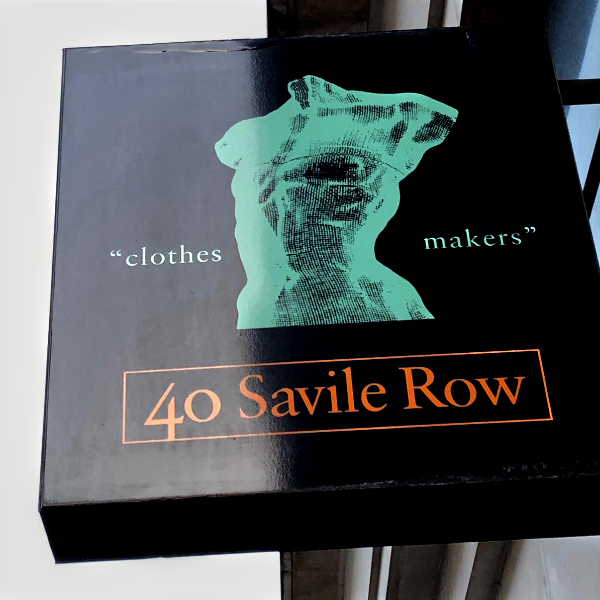 40 savile row logo by artist David Begbie