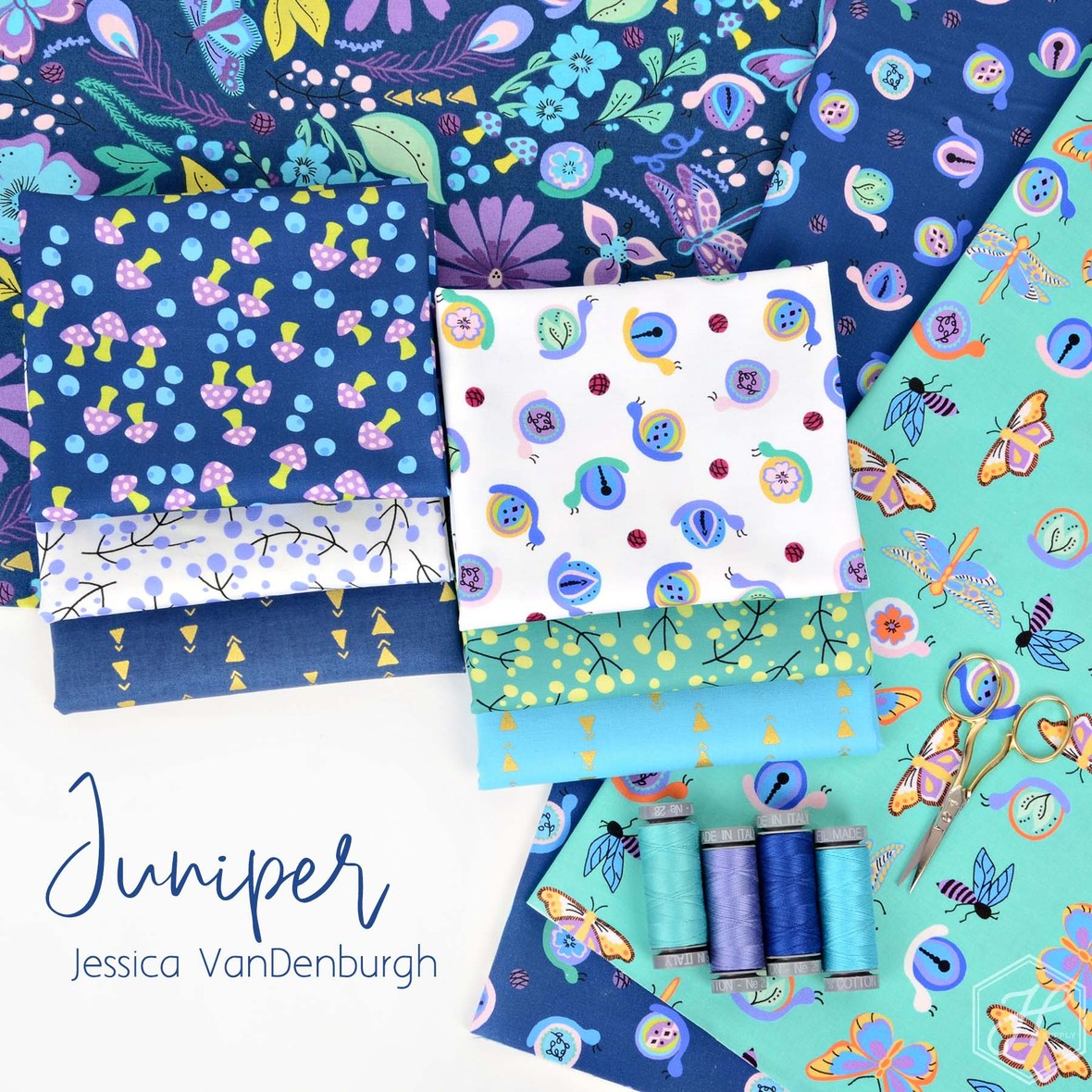 Juniper fabric from Windham for Hawthorne Supply Co