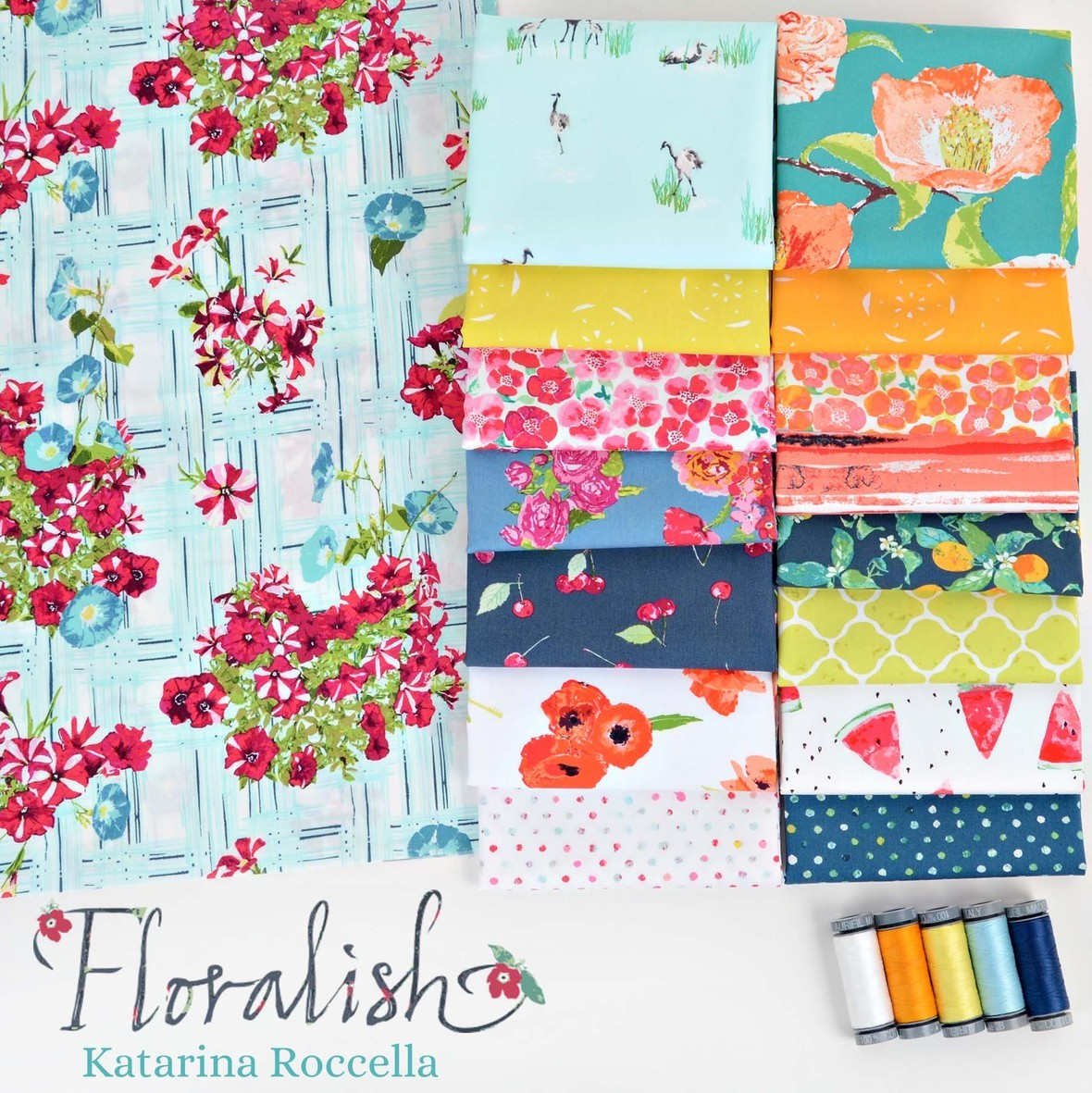 Floralish Fabric Poster Katarina Roccella for Art Gallery at Hawthorne Supply Co