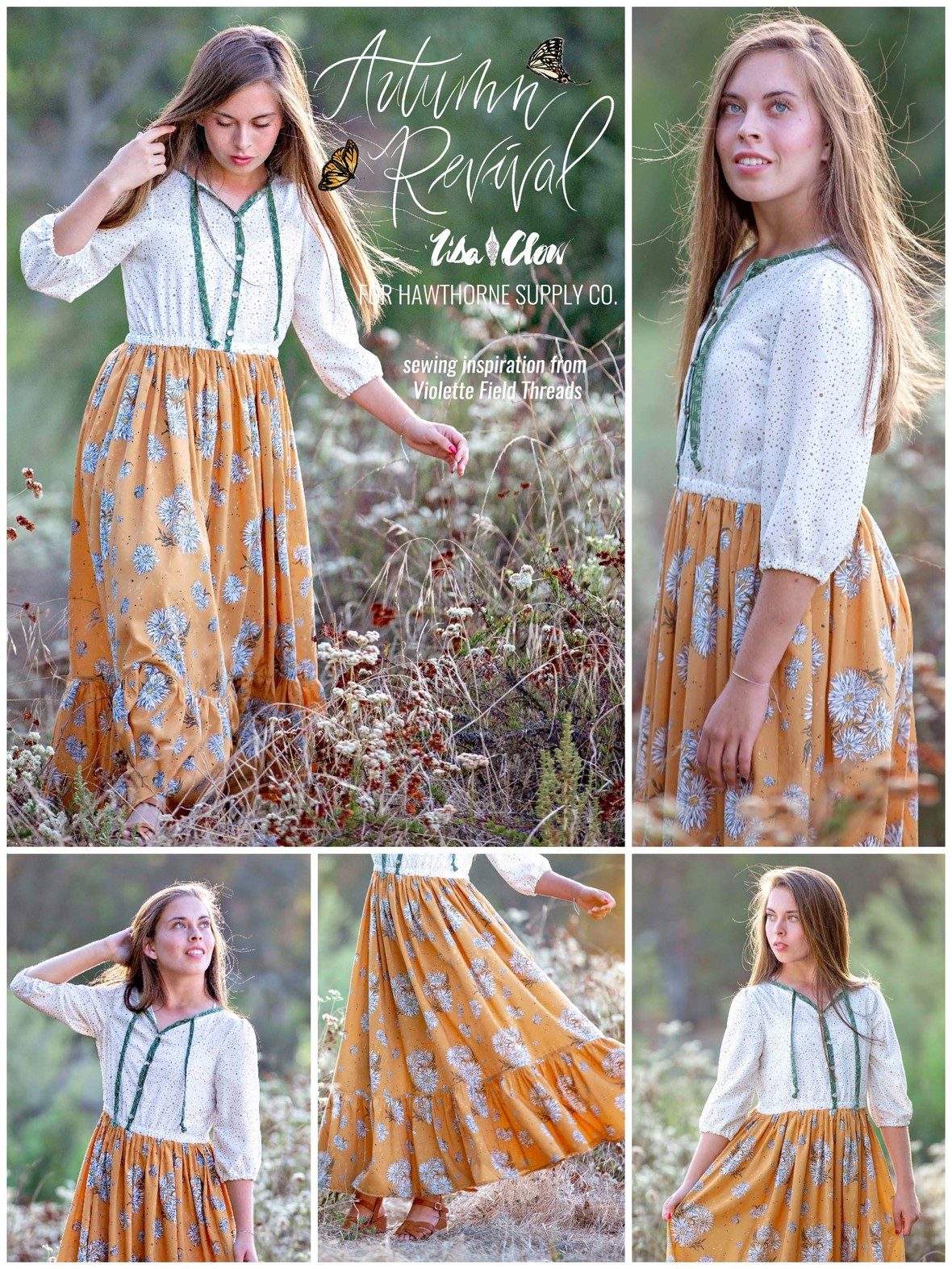 Autumn Revival Dress My Sweet Sunshine and Hawthorne Supply Co